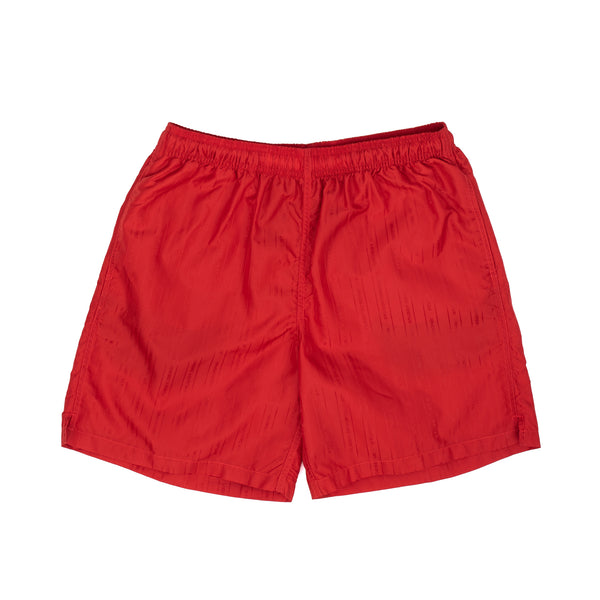 stussy jacquard short shorts nylon red oth off the hook