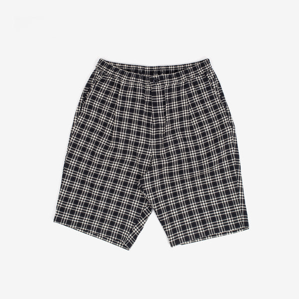 These Plaid Bryan Linen Shorts from Stussy feature a lightweight yarn dyed linen construction., two front pockets and two back pockets. The elastic waist with an interior drawcord allows for a custom fit.   77% Cotton / 23% Linen Woven Product code: 112253 off the hook oth streetwear boutique canada montreal