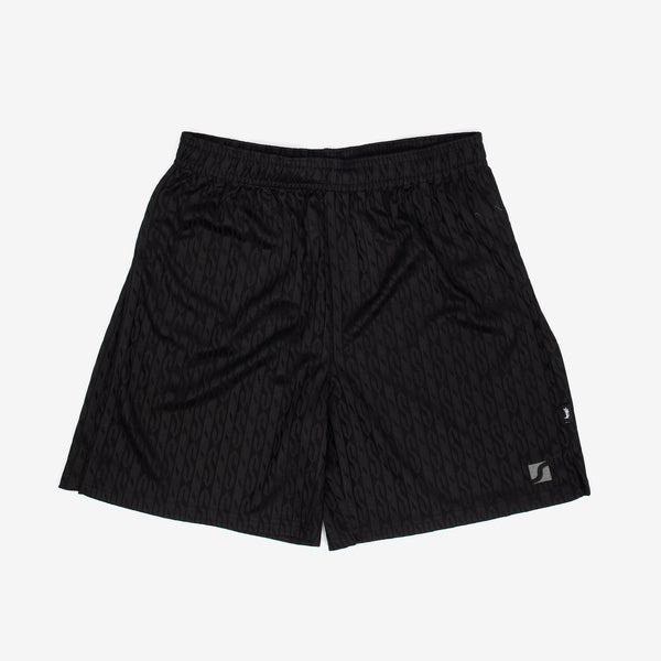 "Inspired by old school patterned soccer shorts, Stussy adds a pop of texture to their take on the garment. Constructed from a jacquard knit, these shorts feature an allover ""S"" pattern, an elasticated waistband with and interior drawstring, and minimal branding.  Product code: 112256  off the hook oth streetwear boutique canada montreal black"