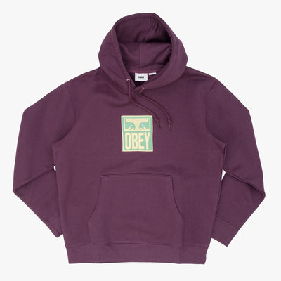 Obey 112470103 Stack Pullover Specialty Fleece - front view - available at off the hook montreal #color_bb-wine