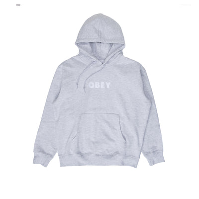 OBEY Logo Hood - Ash Grey - Front - Off The Hook Montreal #color_ash-grey