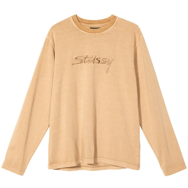 Stussy River LS Crew - Khaki - Front - Off The Hook Montreal