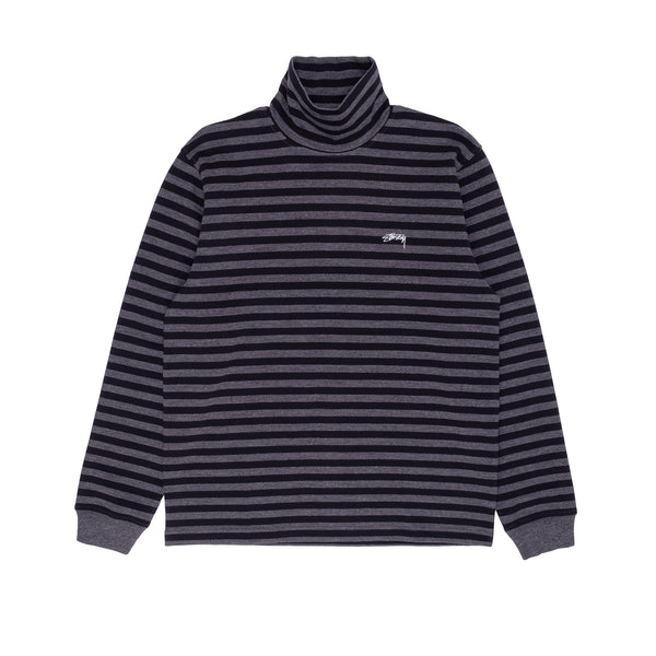 Stussy 1140229 Classic Stripe LS Turtleneck - front - available at off the hook montreal #color_black