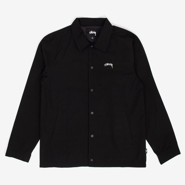 Stussy 115490 Classic Coach Jacket Black - front view - available at off the hook montreal