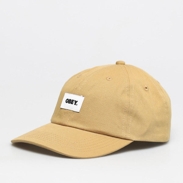 Obey Bold Label Organic 6 Panel Strapback - Almond - 45deg - Off The Hook Montreal