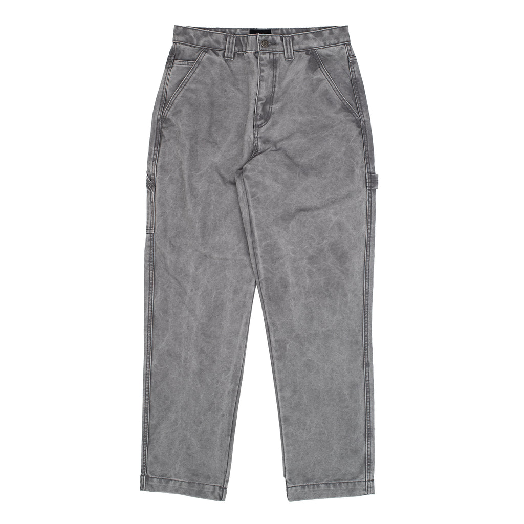 stussy washed carpenter workwear pants grey off the hook oth