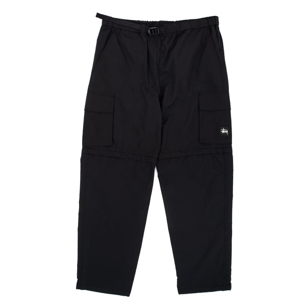 Zip Off Cargo Pant Black