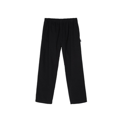 Stussy Brushed Beach Pant-  Black - Front - Off The Hook Montreal #color_black