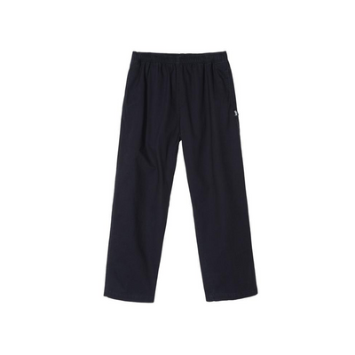 Stussy Brushed Beach Pant-  Navy - Front - Off The Hook Montreal #color_navy