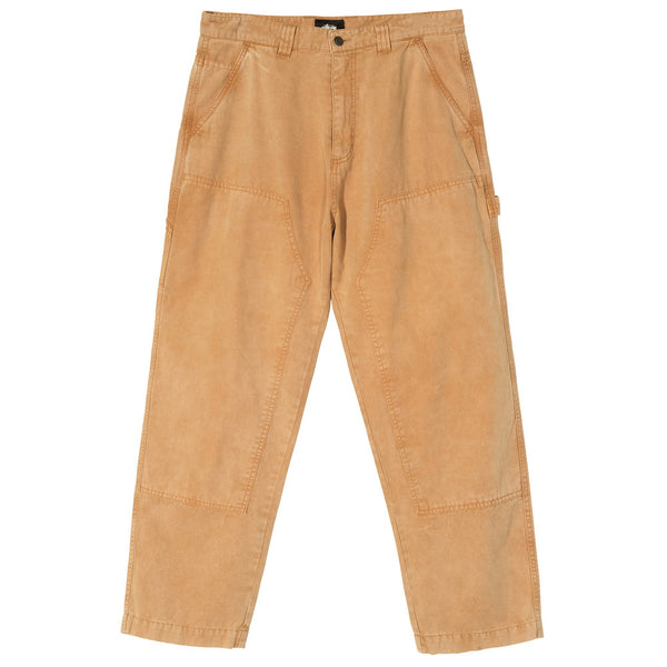 Stussy Canvas Work Pant - Gold - Front - Off The Hook Montreal