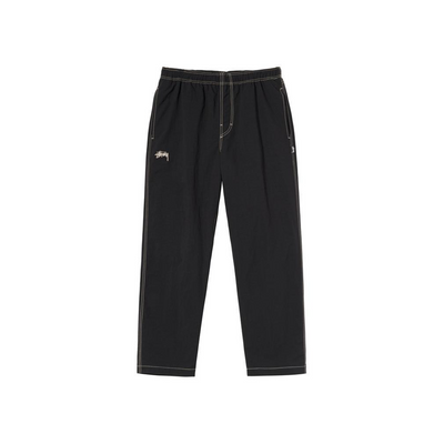 Stussy Folsom Beach Pant - Black - Front - Off The Hook Montreal #color_black