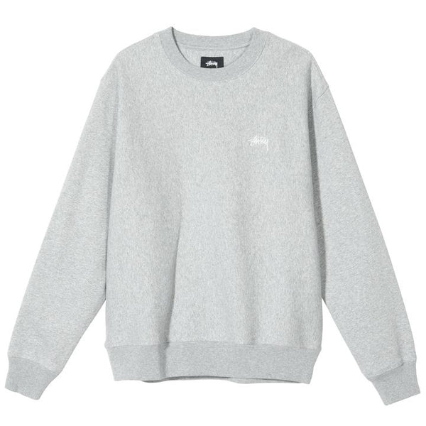 Stussy 118363 Stussy Logo Crew Grey Heather front available at off the hook montreal