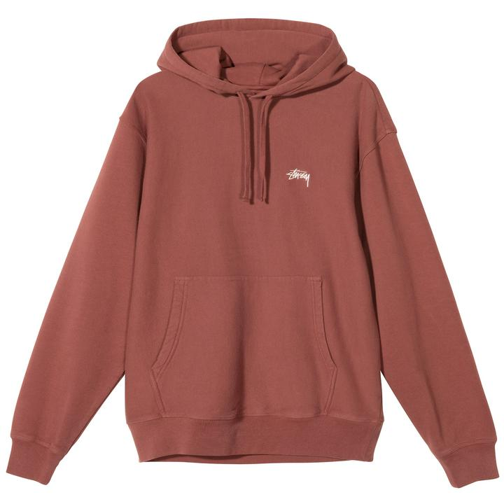 Stussy 118364 Stussy Logo Hood Burgundy front available at off the hook montreal