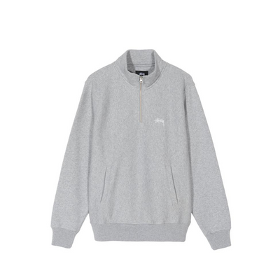 Stussy Stock Logo Mock - Grey Heather - Front - Off The Hook Montreal #color_grey-heather