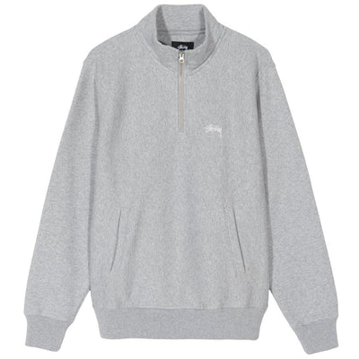 Stussy Logo Mock - Grey Heather - Front - Off The Hook Montreal