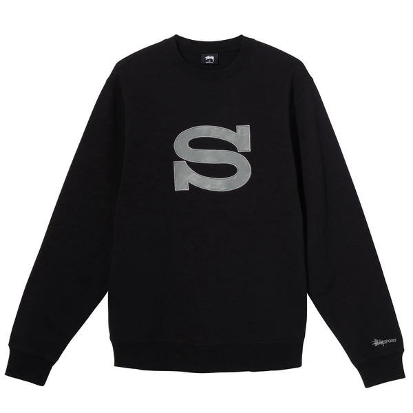 Stussy S Crew - Black - Front - Off The Hook Montreal