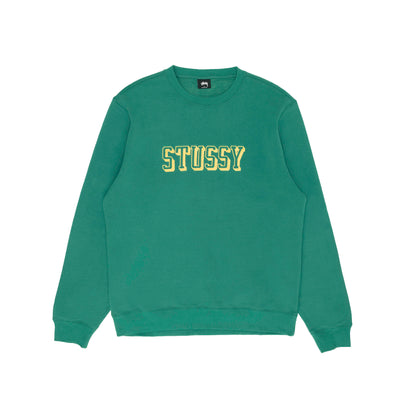 Stussy 3D Collegiate App.Crew - Green - Front - Off The Hook Montreal #color_dark-green
