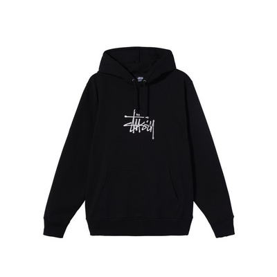 Stussy Basic App Hood -Black - Front - Off The Hook Montreal #color_black