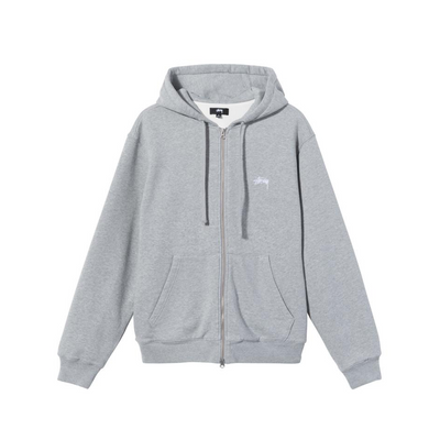 Thermal zip hoodie 118433 - front - Grey Heather - available at off the hook montreal #color_grey-heather