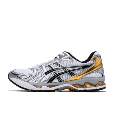 Asics Gel Kayana 14 - White / Pure Gold - Side - Off The Hook Montreal
