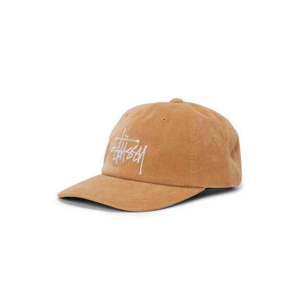 Stussy Big Logo Velveteen Pro Cap - Yellow - Front  - Off The Hook Montreal