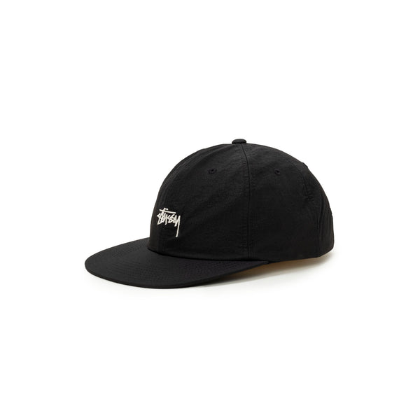 Stussy Stock Nylon Ripstop Strapback - Black - Front - Off The Hook Montreal #color_black
