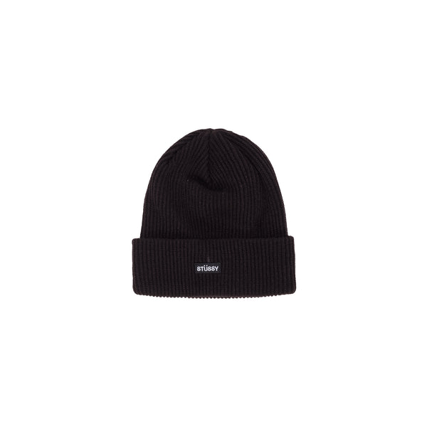 Stussy Small Patch Watchcap Beanie - Black - Front - Off The Hook Montreal #color_black