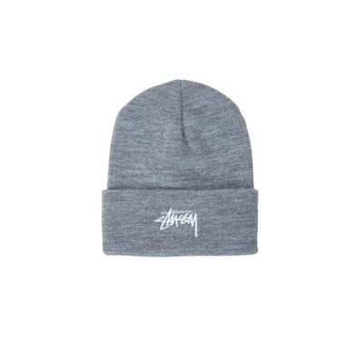 1321020 Stock Cuff Beanie - grey heather - front - available at off the hook montreal #color_grey-heather