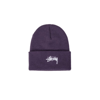1321020 Stock Cuff Beanie - purple - front - available at off the hook montreal #color_purple