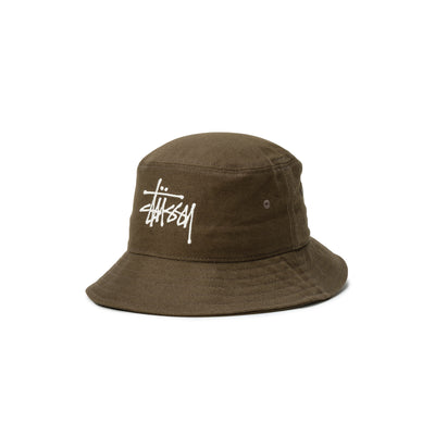 1321024 Big Logo Twill Bucket Hat - front - available at off the hook montreal #color_olive