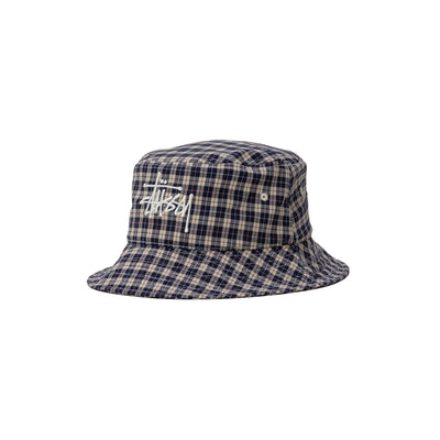 Basic Plaid Bucket Hat 1321025 - front - available at off the hook montreal #color_offw