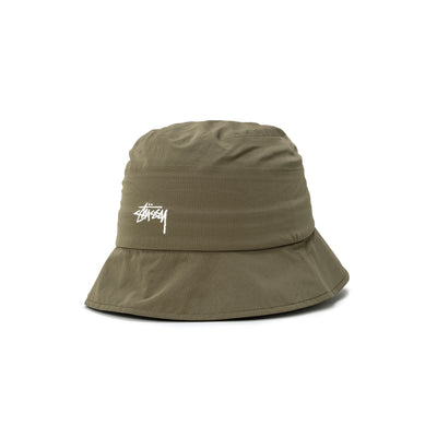 1321030 Outdoor Panel Bucket Hat - Green - Front - available at off the hook montreal #color_green