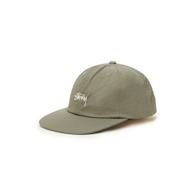 Stussy Stock Nylon Ripstop Strapback - Olive - Front - Off The Hook Montreal #color_olive