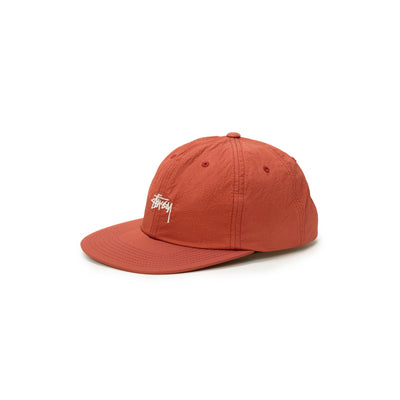 Stussy Stock Nylon Ripstop Strapback - Rust - Front - Off The Hook Montreal #color_rust