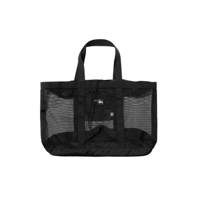 Stussy Mesh Beach Tote - Black - Front - Off The Hook Montreal