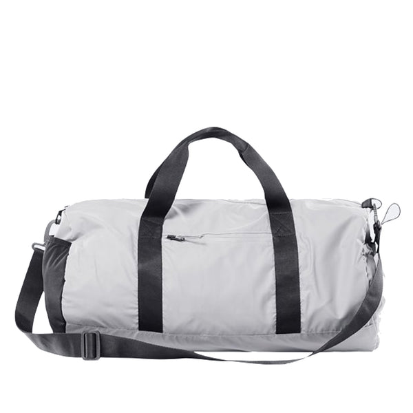 This is a duffel crafted from ultralightweight, waterproof PU featuring a main zipper compartment, a front pocket for easy access and a side-elastic mesh sleeve. It has two top handles, as well as a crossbody strap for multi-functional carrying options. off the hook oth streetwear boutique canada montreal rains bag