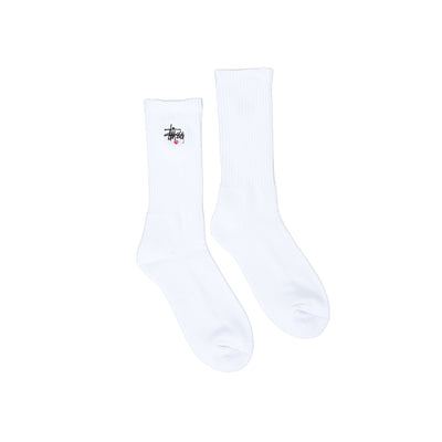 138713 Basic Logo Crew Socks - white - available at off the hook montreal #color_white