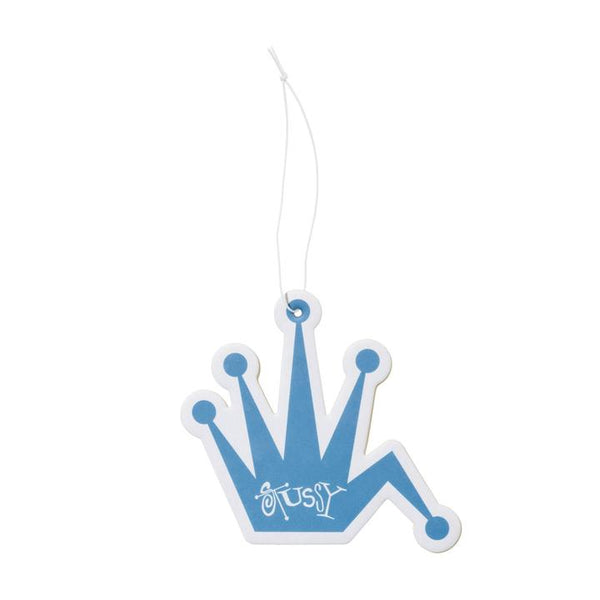 Stussy | 138718b Bent Crown Air Freshener Blue (Ocean) front available at off the hook montreal
