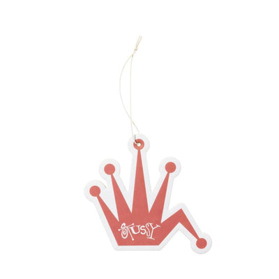 Stussy 138718 Bent Crown Air Freshener Red available at off the hook montreal