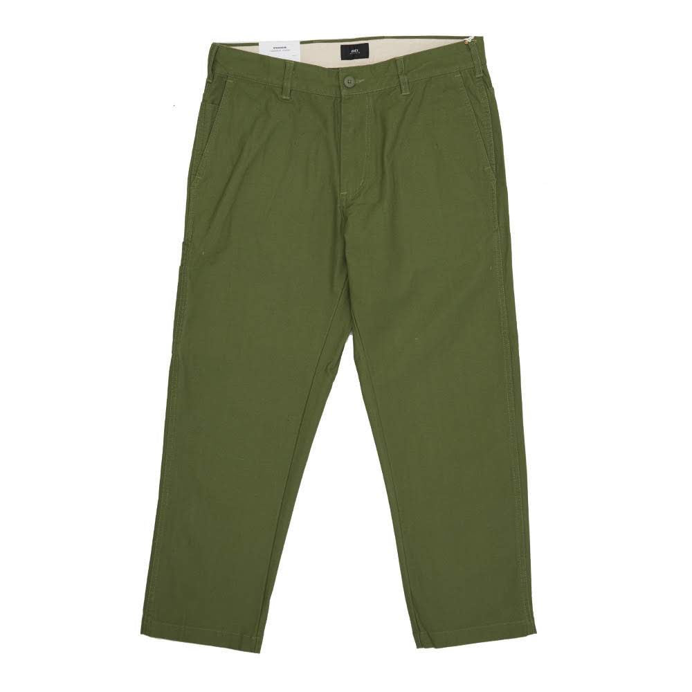 obey straggler pants kaki green army menuisier chino froissé streetwear workwear oth off the hook