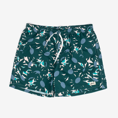 These swim trunks from Bather feature a drawn floral pattern, contrasting drawstrings and are adorned with a logo patch. They also boast an elasticised waist, custom tipped drawstrings, along with a quick-dry shell.   Shell: 100% Polyester Quick Dry Lining: 90% Nylon 10% Spandex Ultra Fine Mesh Reinforced Side Pockets Back Pocket With Snap Enclosure 5.5 Inch Inseam Made in Canada Product code: 14425G off the hook oth streetwear boutique canada montreal