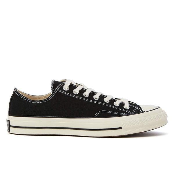 The Chuck 70 is a re-crafted sneaker that uses modern details to celebrate the original Chuck Taylor All Star from the 1970's. It features a higher rubber foxing, a cushioned footbed that provides long-lasting comfort and a more substantial rubber toe cap.   Product code: 162058C  converse chuck 70 ox black classic off the hook oth sneakers shoes boutique canada montreal