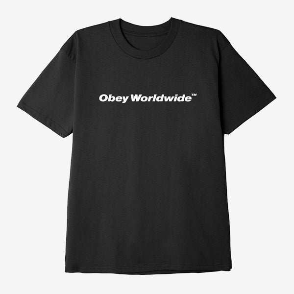 OBEY WORLDWIDE CLASSIC T-SHIRT BLACK front available at off the hook montreal