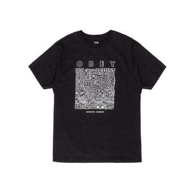 165262586 OBEY Creative Dissent Classic Tee - men's - front - available at off the hook montreal #color_black