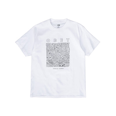 165262586 OBEY Creative Dissent Classic Tee - men's - front - available at off the hook montreal #color_white