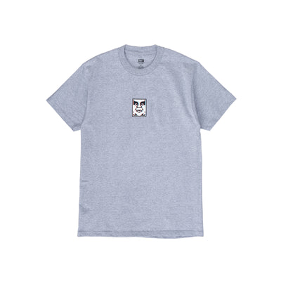 165262587 OBEY Double Vision Classic Tee - men's - front - available at off the hook montreal #color_heather-grey