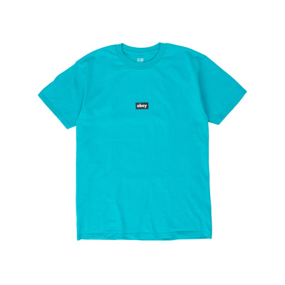 165262615. OBEY Black Bar Classic Tee - men's - front - available at off the hook montreal #color_teal