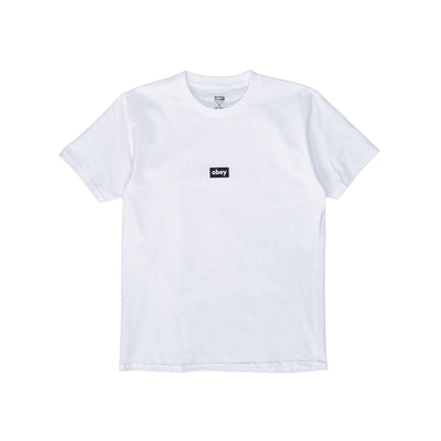165262615. OBEY Black Bar Classic Tee - men's - Front - available at off the hook montreal #color_white