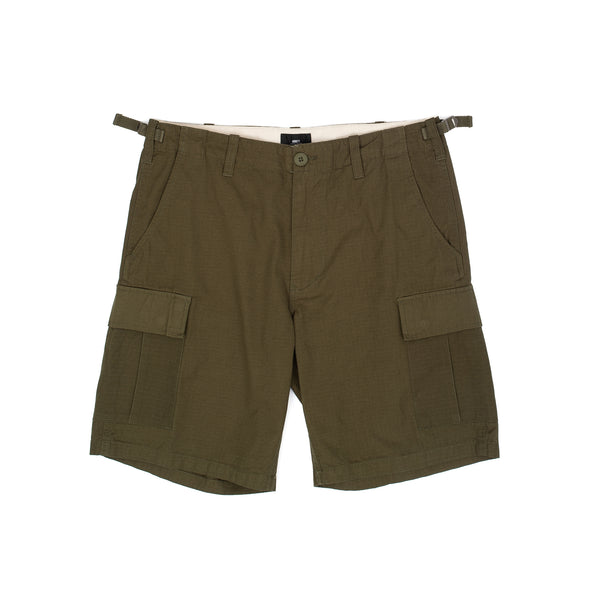 obey recon cargo short ii 2 olive green military streetwear oth off the hook