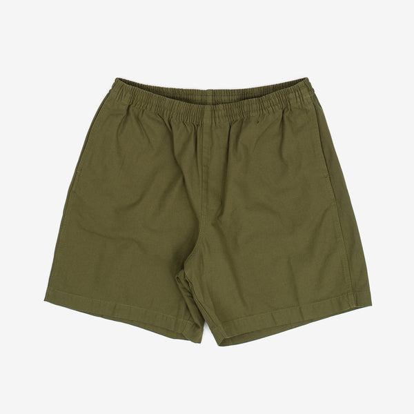 The Ideals Organic Easy Short in Army are a part of in Obey's sustainable line, which looks to mitigate their environmental impact as much as possible. The fit is relaxed, and hits just above the knee.  100% Organic Cotton Product code: 172120065.ARM green off the hook oth streetwear boutique canada montreal